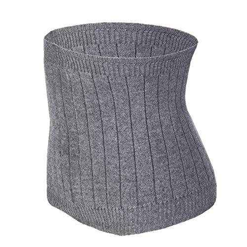 FakeFace Winter Weiche Kaschmir Nierenwärmer Rückenwärmer Elastisch Taille Unterstützung Taille Wärmer Taillen Beschützer Gürtel für Damen Herren Kinder grau M