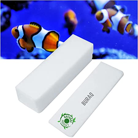BURAQ 6 ft Aquarium Biochemical Filter Mechanical and Biological Filtration Sponge for Fish Tank (6 pieces)