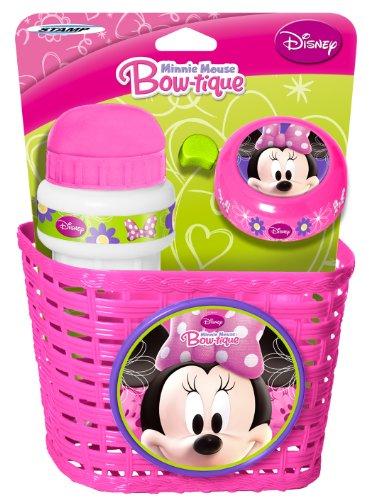 Stamp Disney Minnie Maus Fahrradkorb, Klingel und Trinkflasche