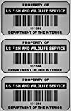 1000 Custom 1.5' x .75' Metalized Silver Polyester Asset Tags/Labels Various Quantities'Featuring Easy Do It Yourself Design'