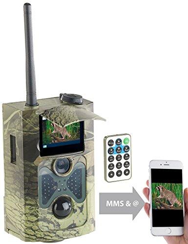 VisorTech Full-HD-Wildkamera mit Bewegungserkennung, Nachtsicht, GSM-Bildversand