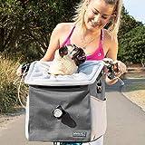 elabark 4 in 1 Dog Carrier/Dog Bike Basket with Large Side Pockets,...
