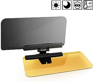 Anti Glare Visor-2 in 1 Transparent Driving Car Sun Visor Extender Anti-UV Block Goggles Shield for Day/Night