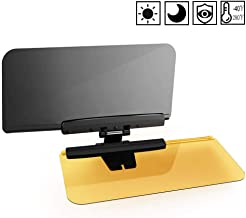 Anti Glare Visor-2 in 1 Transparent Driving Car Sun Visor Extender Anti-UV Block Goggles Shield for Day/Night