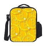 Bolsa Del Almuerzo Bitcoin Patrón Brillante Bling Bolsa Porta Alimentos Isotermica Bolsa Almuerzo Impermeable Bolsa Porta Aislamiento Bolsa Térmica