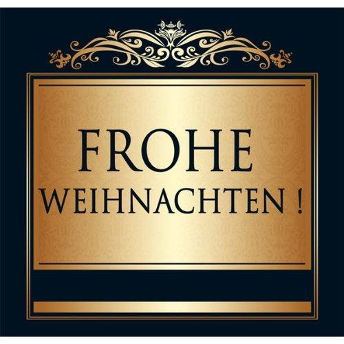 Udo Schmidt Aufkleber Flaschenetikett Etikett Frohe Weihnachten gold elegant