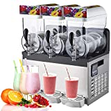 Máquina de granizado comercial,máquina de granizado de nieve de encimera,tanque de 450W 15L,Máquina para hacer bebidas congeladas,para hacer café con jugo de hielo,temperatura de -4 a -2 ° C