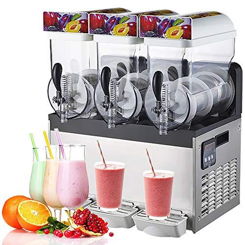 WIDIMS Máquina de granizado de Hielo Comercial Batidora de Bebidas congeladas Margarita Smoothie Máquina de granizado de Hielo Granizado Maker 15-45L -4 ℃ - 2 ℃ / (24,8 ℉ -28,4 ℉)