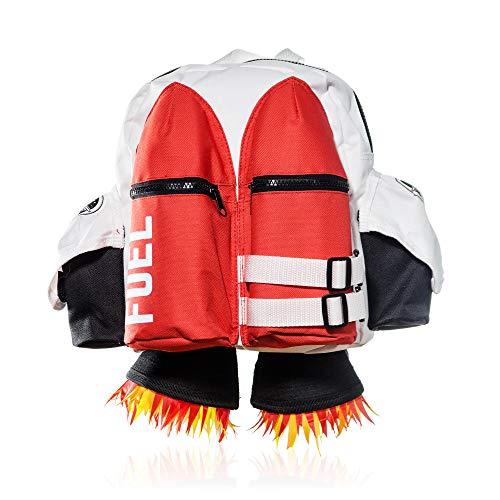 SUCK UK Jetpack Rucksack (Kinder), 45 cm, Rot-Weiss