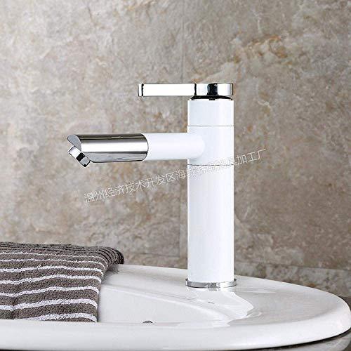 BXU-BG Ware grifo del fregadero de la cocina grifo del lavabo del cuarto de baño y agua fría mezclador grifo al horno pintura blanca