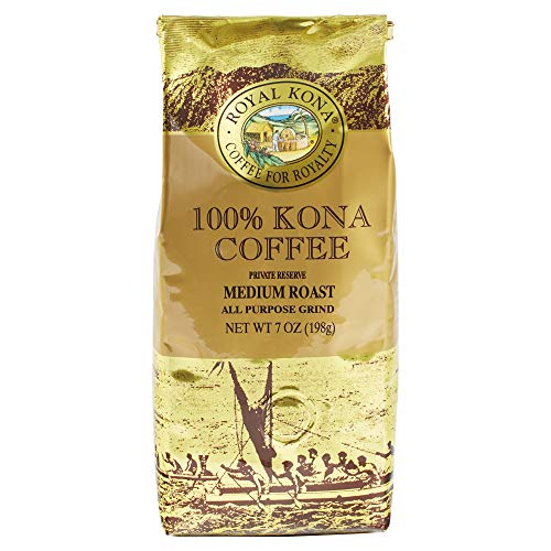Royal Kona 100% Hawaiian Kona Coffee, Ground, Private Reserve Medium Roast