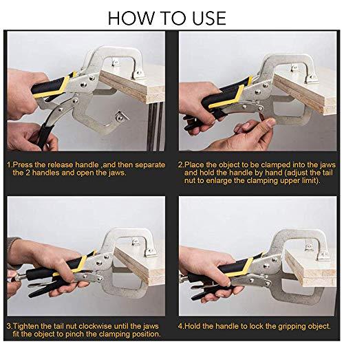 KOTTO 3 Packs Heavy Duty Locking C-Clamp Set