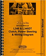 Kubota L345 Clutch, Steering, Power Steering, Service and Maintenance, Checks, Wiring Diagram Service Manual