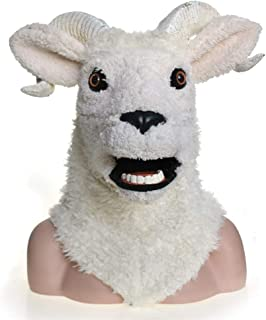 WNGCAR AU Cosplay Carnival Costume Lambs Masquerade Full Head Animal Mask Halloween Carnival Party (Color : White)