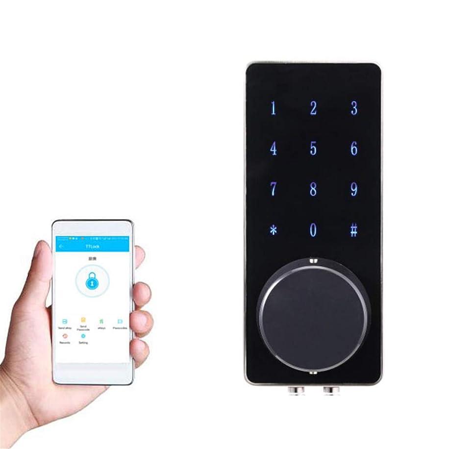 勝つ忠実おかしいスマート電子ドアロック、タッチスクリーンキーパッドデッドボルト付きAPP/Bluetoothコントロール、キーレスエントリーオートロック、ホームホテルアパートメント用盗難防止ロック