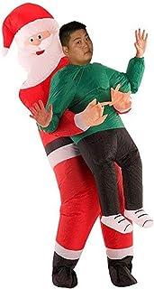 75563ffe197 Noël Costume Gonflable Parodie pour Adultes Hommes Femmes Déguisements  Santa Claus Hugs Xmas Cosplay Costume Drôle
