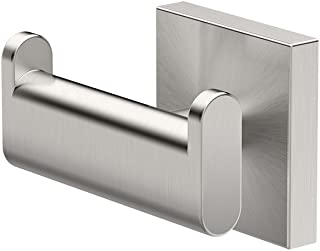 Gatco 4075A Elevate Double Robe Hook, Satin Nickel