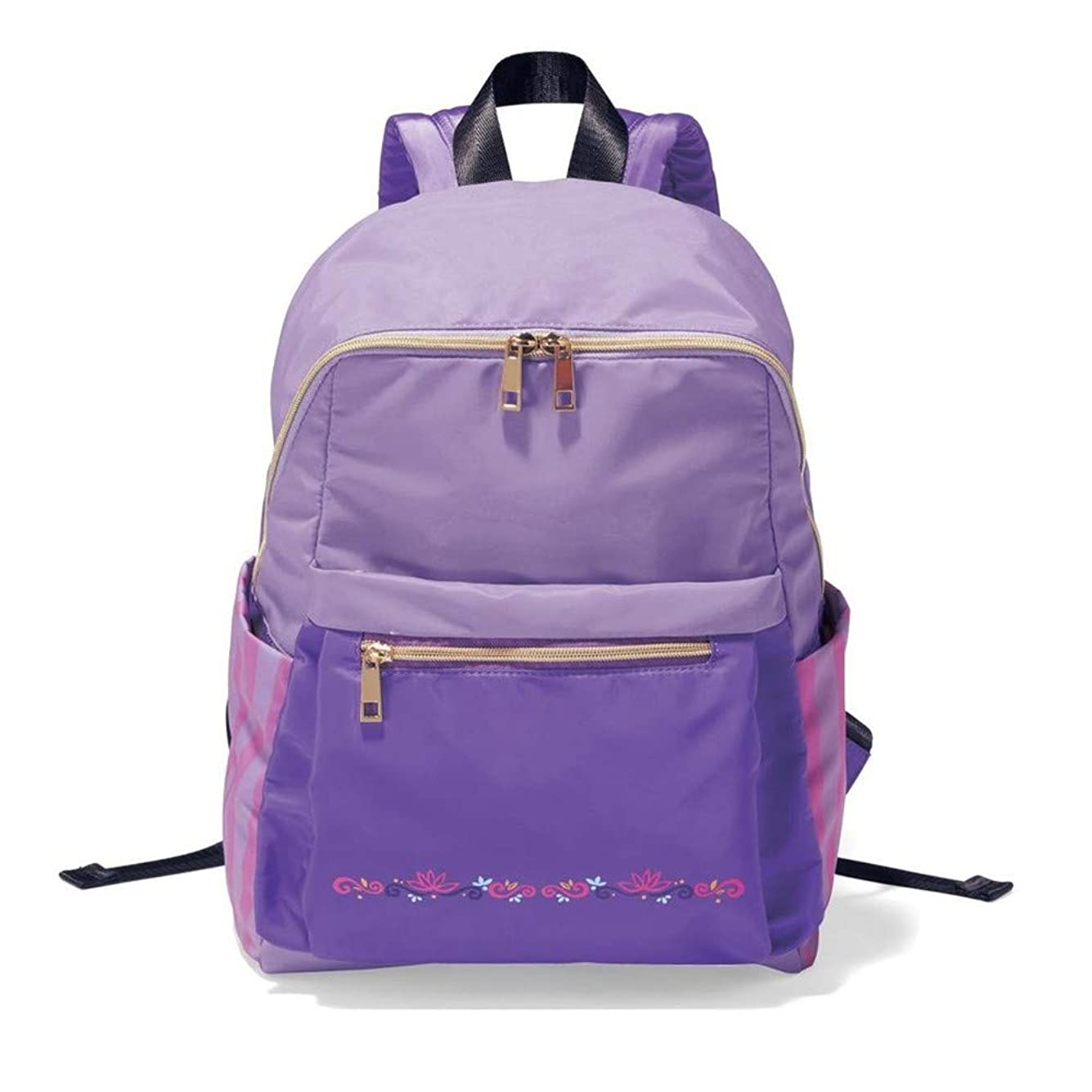 コンピューターを使用するストロークミキサー[ベルメゾン]ディズニー バッグ カバン 鞄 レディース リュック コンパクトリュックサック カラー ラプンツェル ライトパープル系