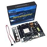 N68 C61 Computadora de Escritorio Soporte de Placa Base para AM2 para AM3 CPU DDR2 + DDR3 Memoria Placa Base con 4 Puertos SATA2-multicolor (BCVBFGCXVB)
