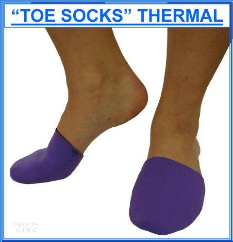 De ping pong de la temperatura corporal es de transporte de neopreno del dedo del pie de bolsitas calentadoras de, lo protege de los dedos de los pies tostada, pantalla para lámpara con diseño con motivos geométricos de pares de formas de, color morado, tamaño ADULT FREE SIZE UNISEX