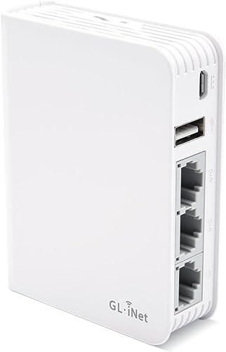 GL.iNet GL-AR750 (Creta) Travel AC VPN Router, 300Mbps(2.4G)+433Mbps(5G) Wi-Fi, 128MB RAM, MicroSD Storage Support, R...