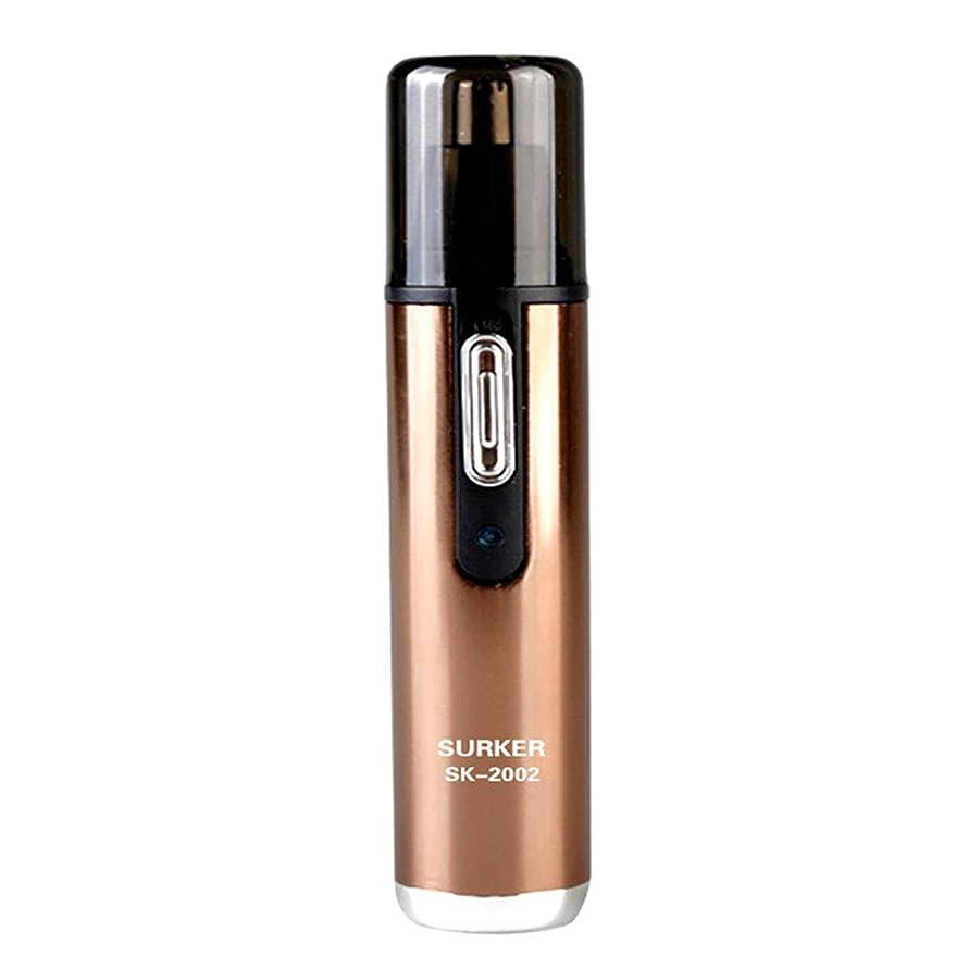 おめでとう阻害する右鼻のヘアトリマーは使いやすいです男性と女性のための50 dB以下の内部360°回転でノイズのある明るいLEDライトで、保護カバーで掃除しやすいです