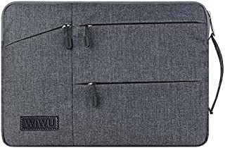 """WIWU Laptop Sleeve Bag,Premium Water Resistant Case Cover Shockproof Notebook Handbag for Men Women Compatible for MacBook/Dell/Huawei/HP Fits 13 Inch/13.3 Inch/13.5 Inch/13.9 Inch(13"""",Grey)"""