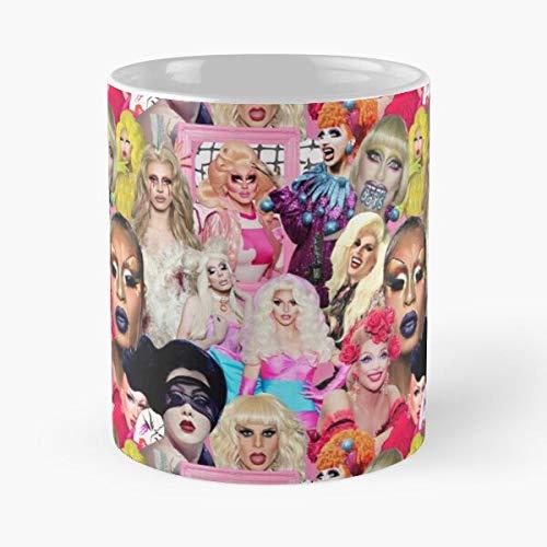 Aquaria Age Bianca and of Del Velor Sasha Violet Alaska Chachki Milk Rio Big Best Taza de café de cerámica de 11 onzas