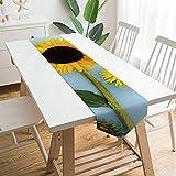 Free Brand Camino de mesa de 200,7 x 33 cm, comida vegetariana de girasol amarillo, decoración de mesa para boda, diseño de mantel, decoraciones al aire libre picnics mesa de comedor