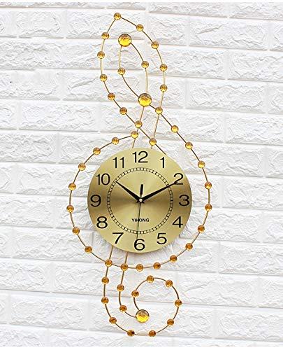 Horloge Horloge Murale Salon Personnalité Créative Horloge Moderne Mode Murale Montre Simple Ambiance Ménage Quartz Horloge (Couleur : Or)