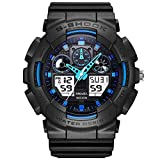 YLJR Ocio y Negocios Reloj Digital de Moda Masculina LED Reloj Digital Light Choque Impermeable Reloj Deportivo para Regalo (Color : 01, Size : One Size)