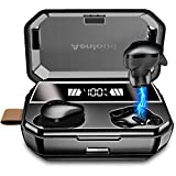 Aenloud Bluetooth 5.0 in Ear Wireless Earbuds 6000mAh Charging case 3D Stereo Sound Wireless Headphones IPX6 Waterproof with Wing Tips and Mic Noise Reduction Touch Control for Smart Phone