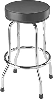 Torin Big Red Swivel Bar Stool / Shop Seat, Black