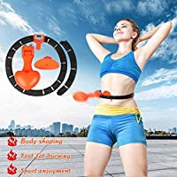 調節可能なウエストバンド、オートスピニング、エクセフープスポーツサークルスリミングリング固定フラフープ大人のための初心者、自動カウント画面でスマートフラフープ