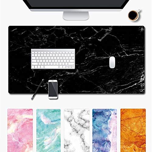 Wudang Schreibtischunterlage Mauspad Gaming, Rutschfeste Schreibtisch-maus-matte Laptop Wasserdichte Schreibtisch Pad Protector Schreibmatte Marmor Sternenhimmel (Grün, 900 * 400 * 1.5mm)