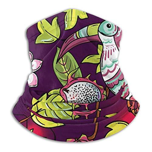 Halswärmer mit Motiv Papageiblume und Schmetterling, nahtlos, für das Gesicht