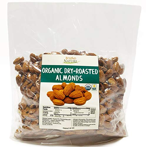 Beyond Nature, [Vacuum Sealed] Organic California Grown Dry-Roasted Almonds, 2 LB