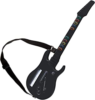 DOYO Black Wii Guitar Wireless Hero and Rock Band Guitar Controller with Strap for Hero and Rock Band Games