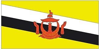 Creative Club Stickers Sticker Brunei International Flag Waterproof Decal for Truck..
