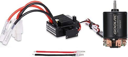 KKmoon 540 35T 4 Pólos Motor Escovado e 60A Escovado ESC Escovado Controlador de Velocidade Eletrônico com 6V / 3A SBEC pa...