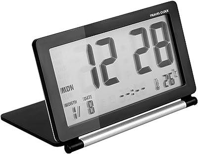 Afinder LED Digital Wecker Reisewecker Mini Wecker Tischuhr mit Nachtlicht Schlummerfunktion Zeit Datum Temperaturanzeige Tragbar Wecker für Zuhause Büro Reise
