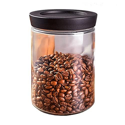 LTCTL Recipientes De Almacenamiento De Frijol De Café De Vidrio,3 Piezas 37oz Espesando Los Botes De Alimentos Herméticos con Tapa (Color : 1pcs)