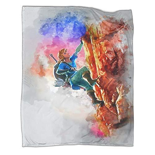 Hairu Warrior Zelda Game Age of Disaster populares mantas de 180 x 230 cm, manta individual casual en invierno. Se utiliza para varias fiestas en el sofá cama.