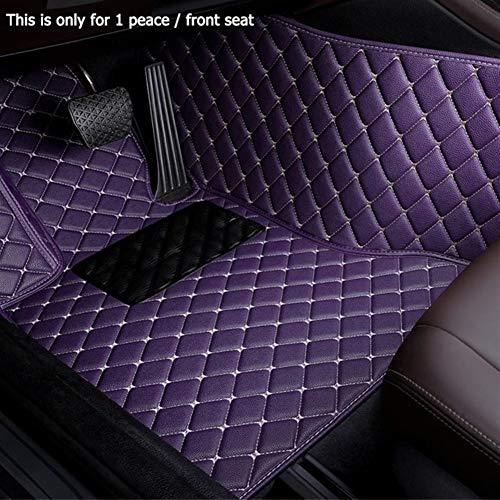 Shenyf Accesorio del coche de encargo del coche Estera de suelo for MINI Cooper R50 R52 R53 R56 R57 R58 F55 F56 F57 F60 R60 Countryman Mini One (Color Name : Purple-1 piece driver Seat)