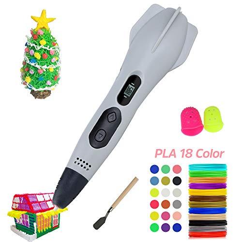 3D Penna Stampa丨Tipo di missile 3D Penna con Schermo LCD,3 Tipi di Controllo Della Velocità e Regolazione Della Temperatura, Modalità Manuale Unica,Regalo Per Bambini e Adulti,Regalo di Natale