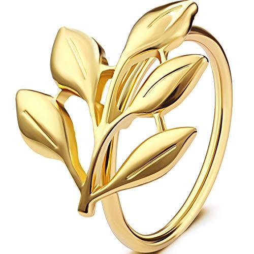 WILLBOND Weihnachten Servietten Ringe Halter für Weihnachten Abendessen Party, Hochzeit Schmuck, Tisch Dekoration Zubehör (Gold Blatt, 6)