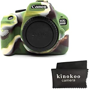 kinokoo Silicone Case for Canon EOS 3000D 4000D EOS Rebel T100 Protevt...