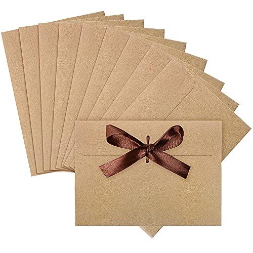 Graplan 20 Piezas Sobres Kraft Vintage Kraft Sobres Regalo Sobres con 20 tiras Cinta para Bodas Cumpleaños Navidad(17 x...