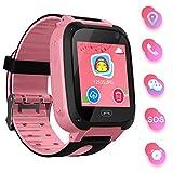 bhdlovely Smartwatch Kinder Telefon Uhr für Kinder mit SOS Voice Chat Kinderuhr Cadeau Junge Mädchen 3-12ans (Pink)