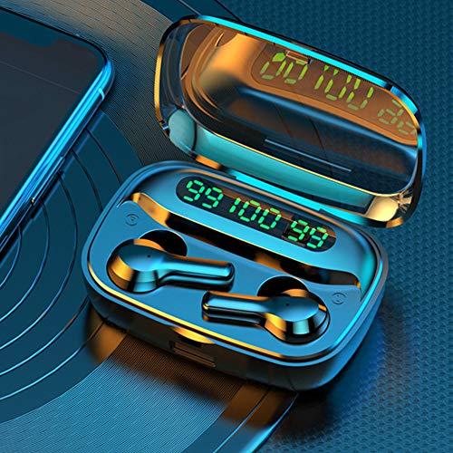 Redução de ruído Touch Control Fones de ouvido Bluetooth Menor consumo de energia Fone de ouvido Bluetooth à prova d'água correndo para dirigir(black)
